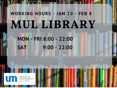 MUL Library – change of working hours for the session
