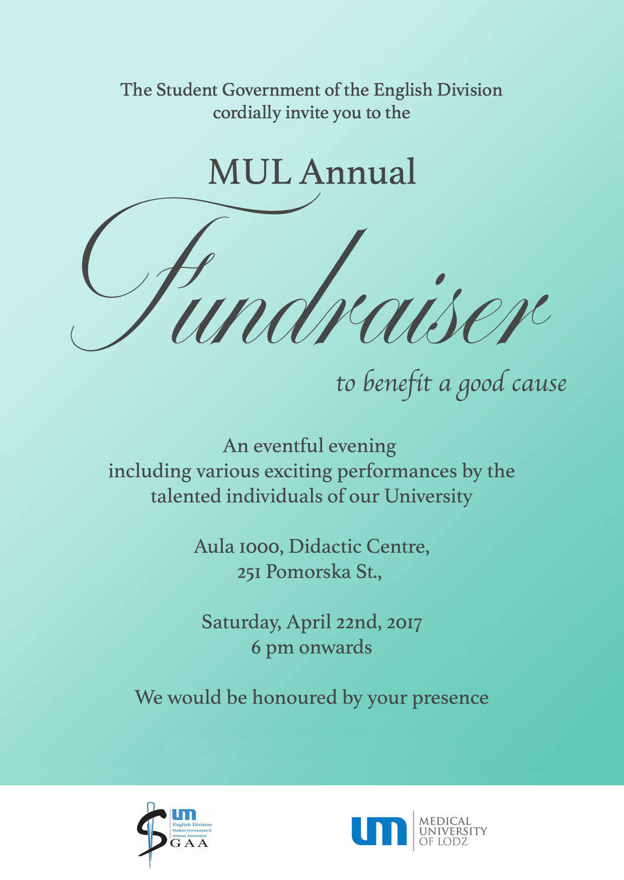 Fundraiser Invitation