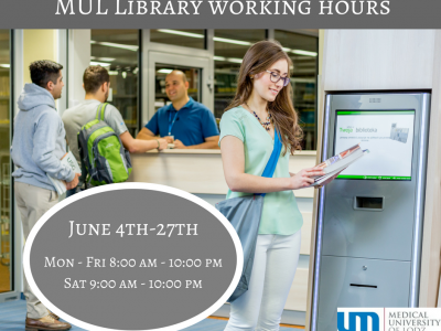 MUL Library working hours June 4th – 27th